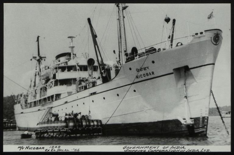 Photograph of Nicobar (ex El Halal), Shipping Corporation of India card