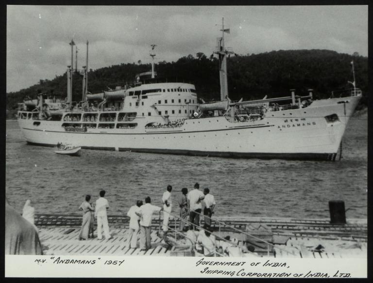 Photograph of Andamans, Shipping Corporation of India card