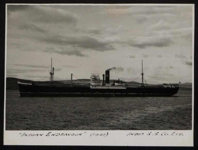 Photograph of Indian Endeavour, India Steamship Company card