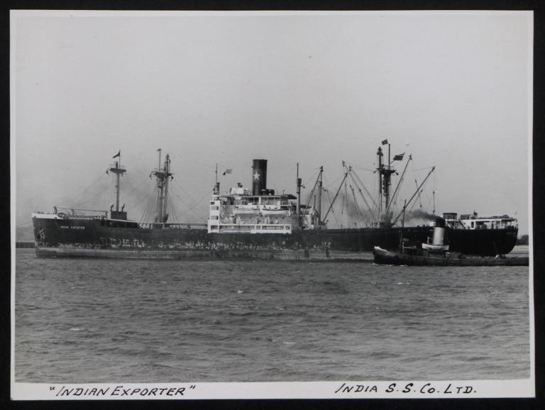 Photograph of Indian Exporter, India Steamship Company card