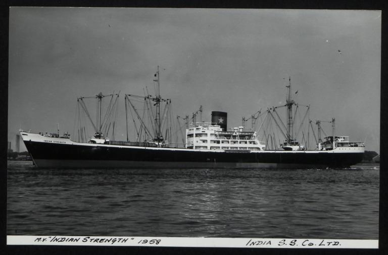 Photograph of Indian Strength, India Steamship Company card