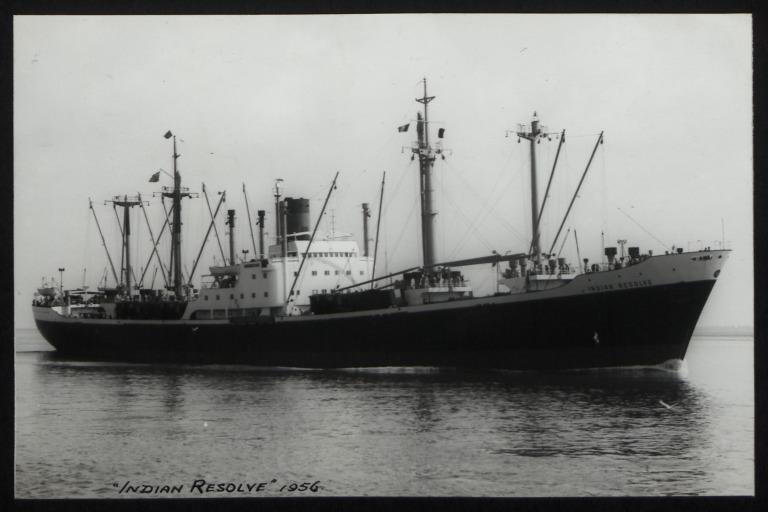 Photograph of Indian Resolve, India Steamship Company card