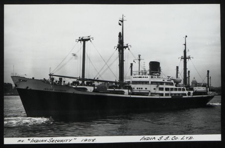 Photograph of Indian SecurIty, India Steamship Company card