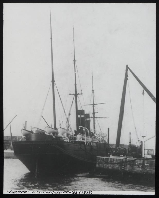 Photograph of Chester (ex City of Chester), Red Star Line (International Navigation Company) card