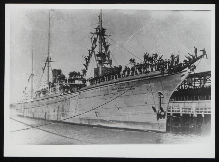 Photograph of Meade (ex City of Berlin), United States Shipping Board card