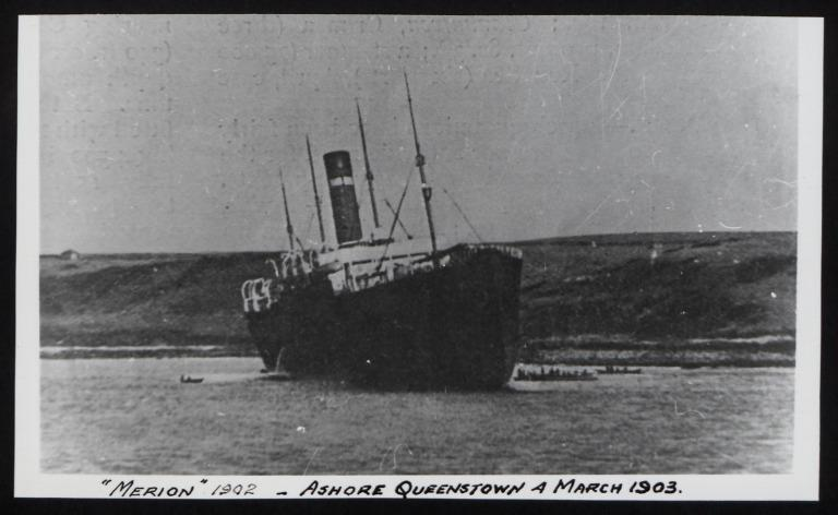 Photograph of Merion, Red Star Line (International Navigation Company) card
