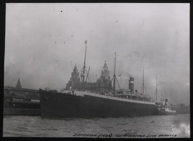 Photograph of Dominion, Dominion Line card