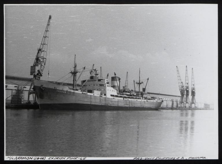 Photograph of Aramon, Pro-unit Shipping S A card