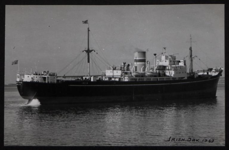 Photograph of Irish Oak, Irish Shipping Limited card