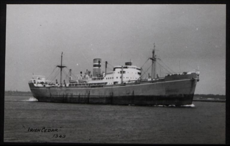 Photograph of Irish Cedar, Irish Shipping Limited card