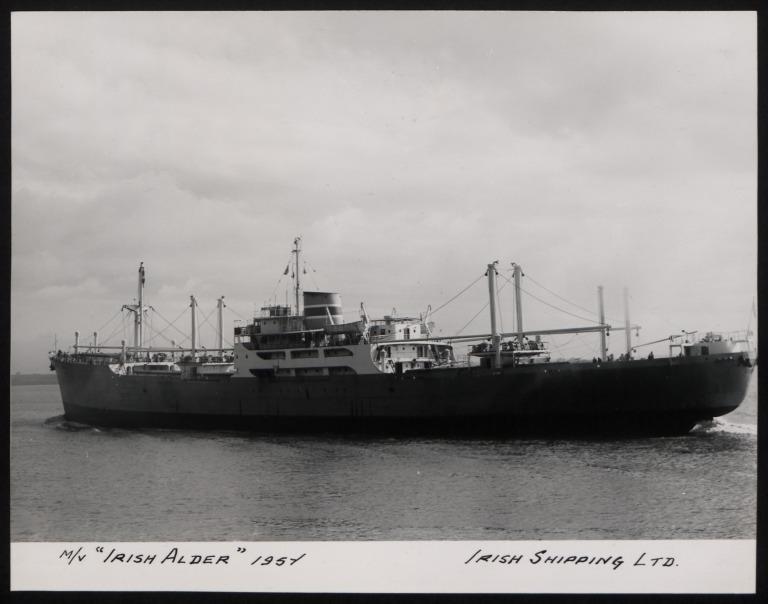 Photograph of Irish Aldar, Irish Shipping Limited card