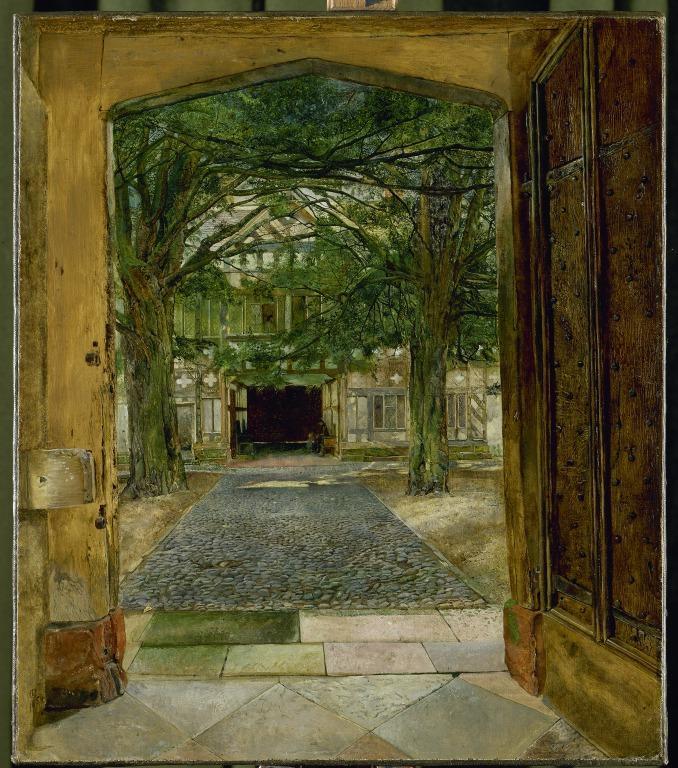 The Courtyard at Speke Hall card