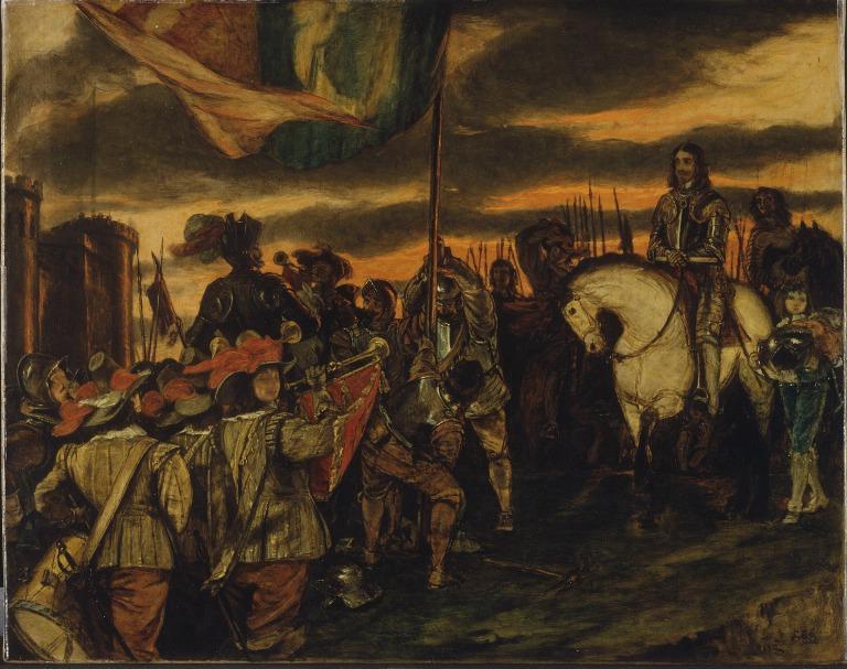 Charles I Raising His Standard at Nottingham card