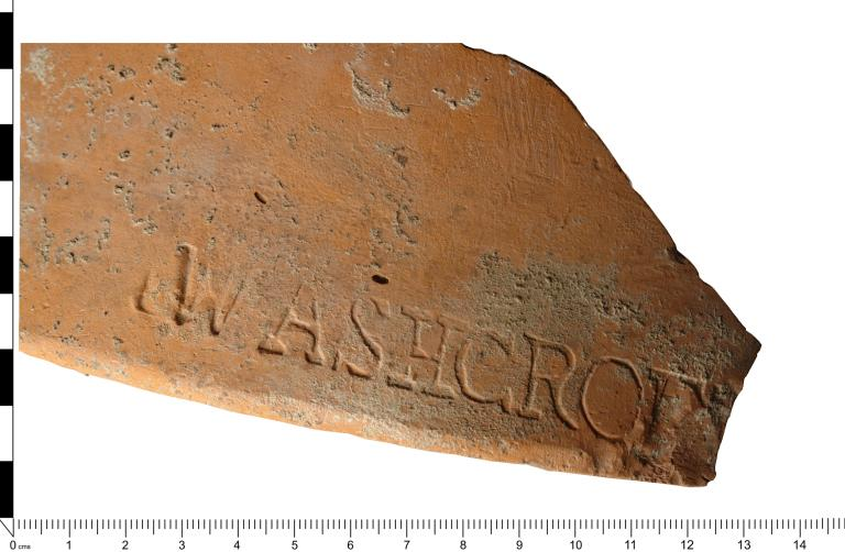 Pottery; Unglazed stamped sugar mould card