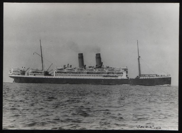 Photograph of Gelria (r/n Gradisca), Koninklijke Hollandsche Lloyd card