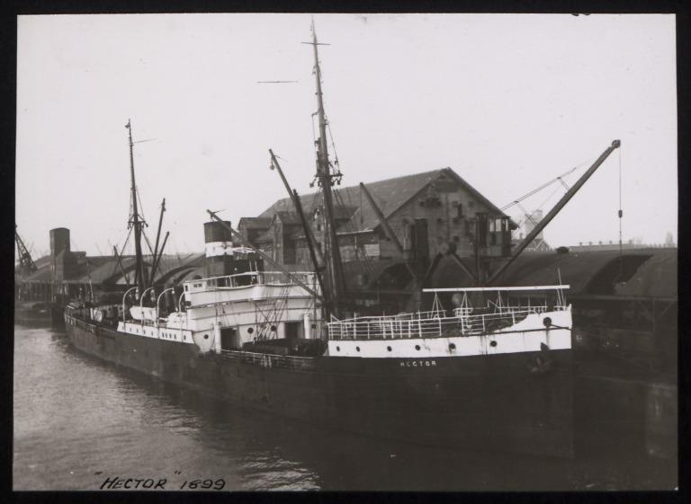 Photograph of Hector (ex Soebana), Koninklijke Nederlandsche Stoomboot Maatschappij card