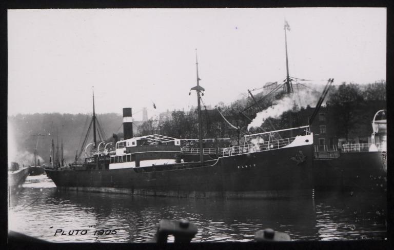 Photograph of Pluto, Koninklijke Nederlandsche Stoomboot Maatschappij card