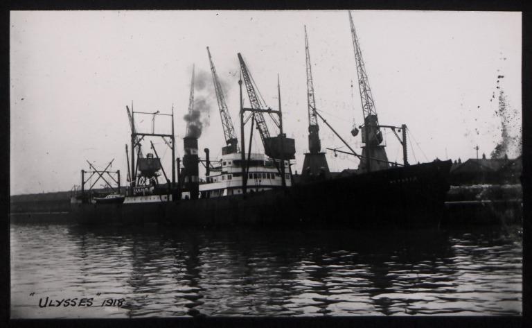 Photograph of Ulysses, Koninklijke Nederlandsche Stoomboot Maatschappij card