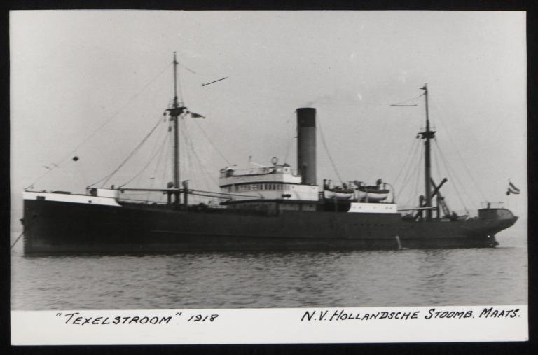 Photograph of Texelstroom, Hollansche Stoomb Maats card