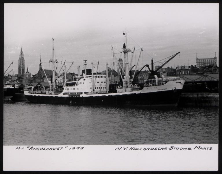 Photograph of Angolakust, Hollansche Stoomb Maats card