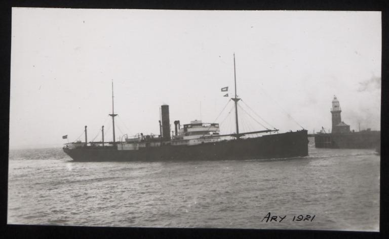 Photograph of Ary, A C Lensen Stoomv Maats card