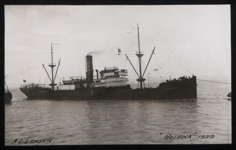 Photograph of Helena (r/n Helena Lensen), A C Lensen Stoomv Maats card