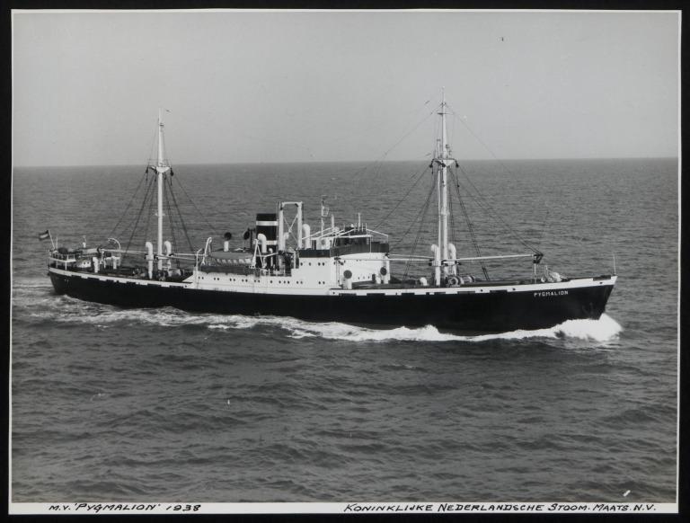 Photograph of Pygmalion, Koninklijke Nederlandsche Stoomboot Maatschappij card