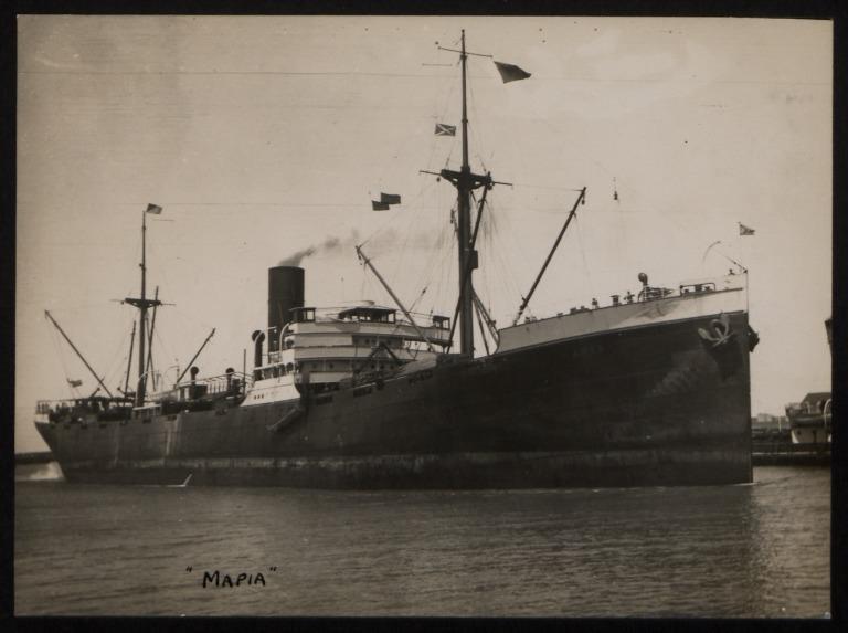 Photograph of Mapia, Stoomvaart Maatschappij Nederland card