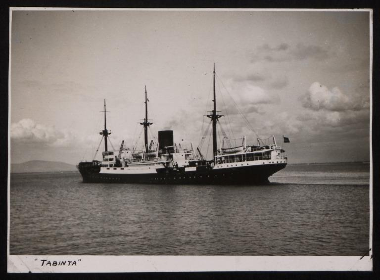 Photograph of Tabinta, Stoomvaart Maatschappij Nederland card