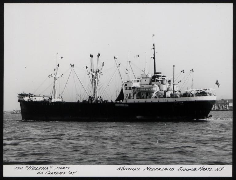 Photograph of Helena (ex Chatham), Koninklijke Nederlandsche Stoomboot Maatschappij card