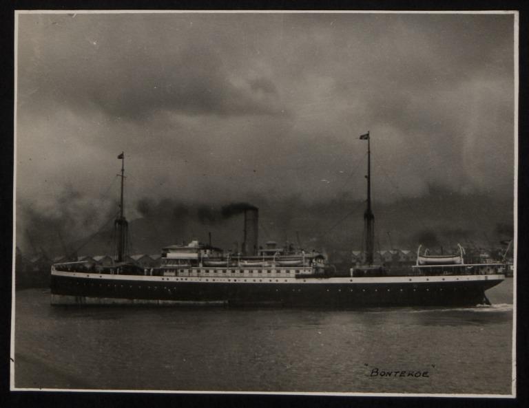 Photograph of Bontekoe, Koninklijke Paketvaart Maatschappij card