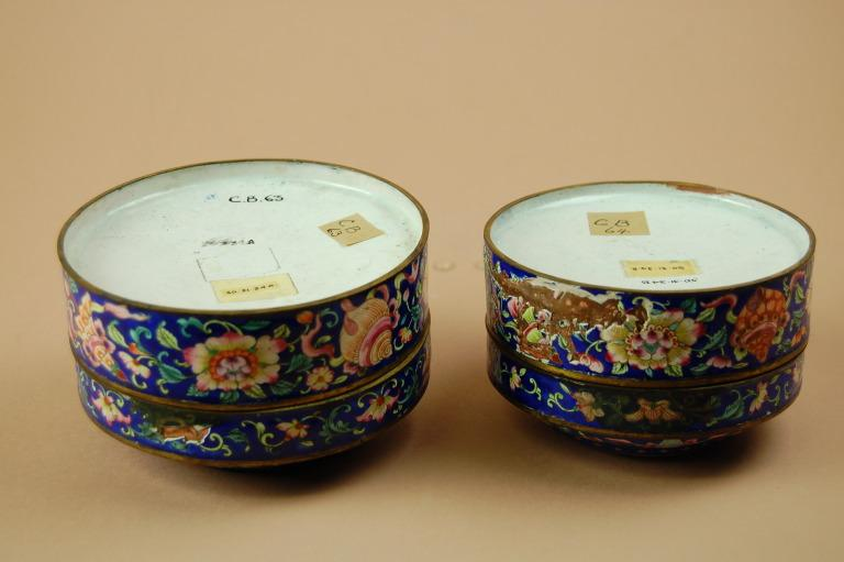 Pair of Enamelled Tins card