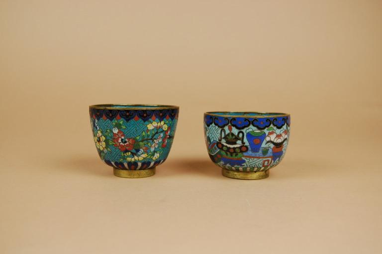 Two Cloisonné Tea Cups card