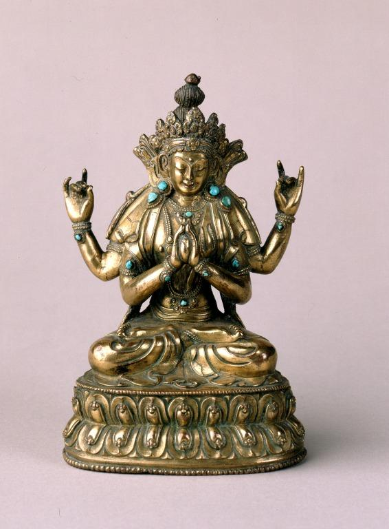 Religious Figure / Chenrezi card