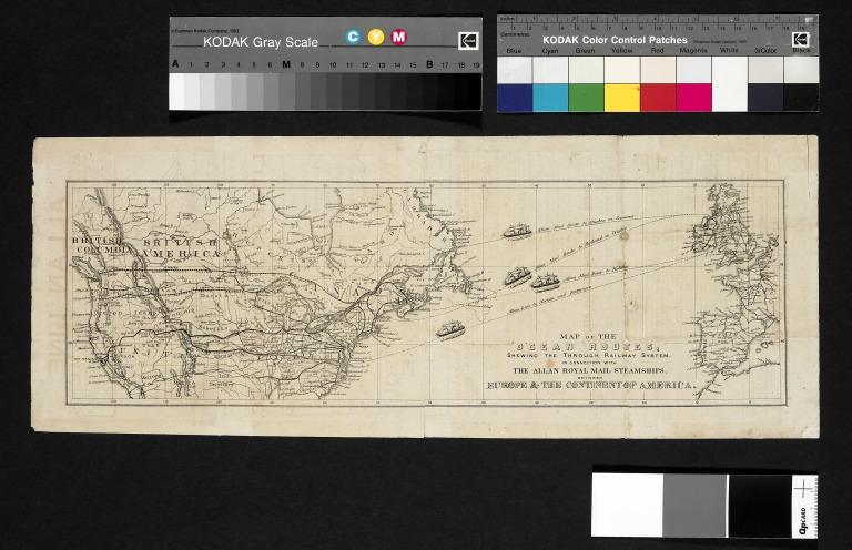 Sailing bill, Allan Line, 1873. card