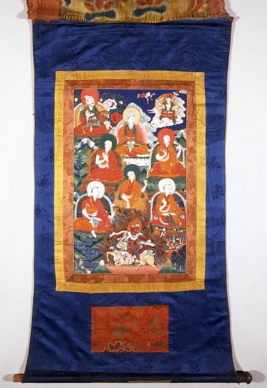 Thangka of Group of Arhats card