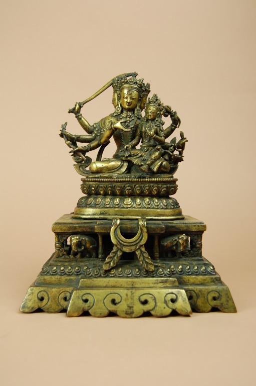 Religious Figure / Manjushri with Sarasvati card