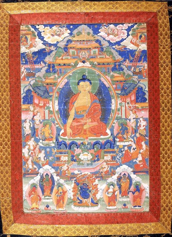 Thangka of Maitreya card