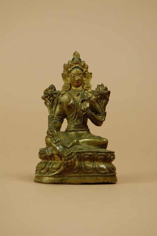 Religious Figure / Green Tara card