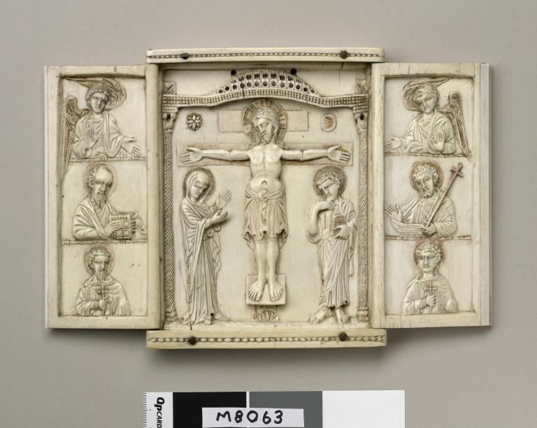 Triptych of Crucifixion card