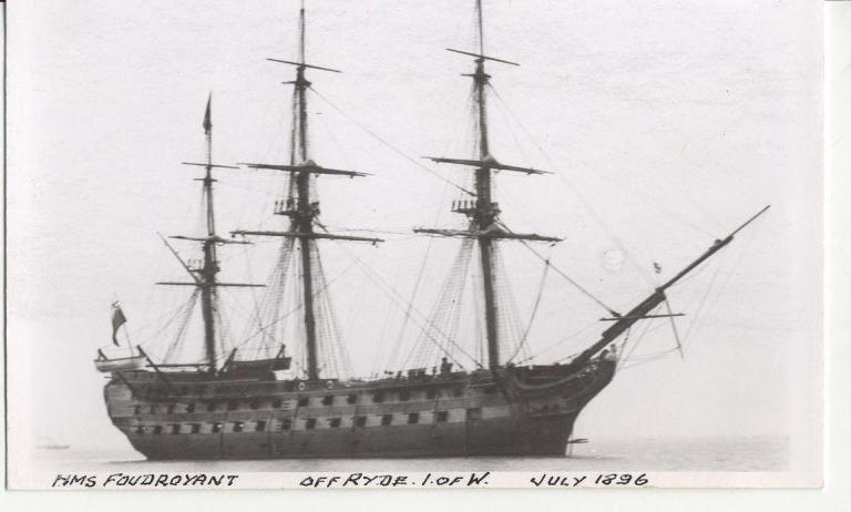 Photograph of HMS Foudroyant (once Nelsons Flagship), Admiralty card