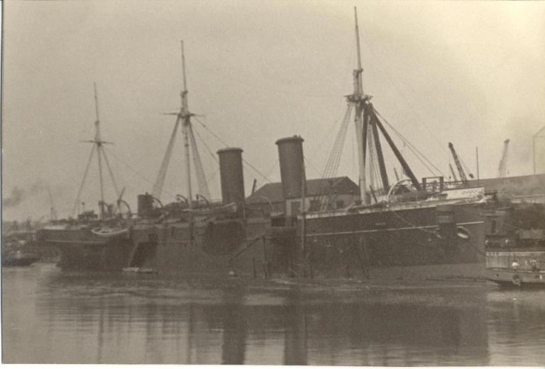 Photograph of Indefatigable, Admiralty card