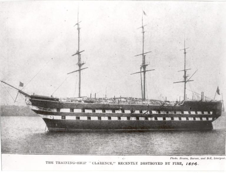 Photograph of Clarence, Admiralty card