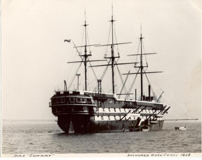 Photograph of Conway (ex HMS Nile), Admiralty card