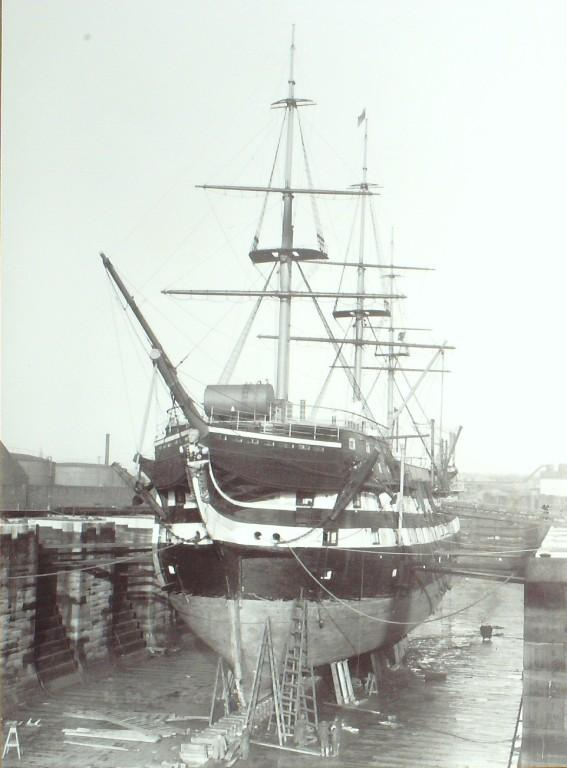 Photograph of Conway, Admiralty card