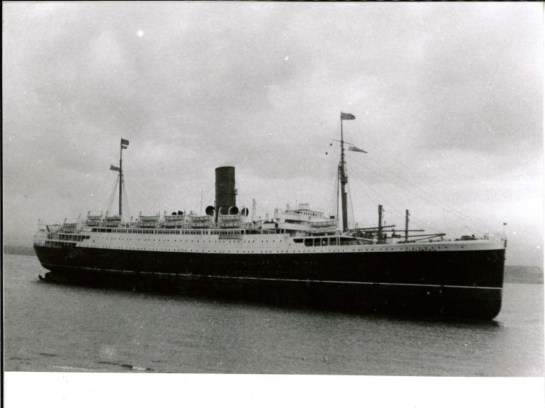 Photograph of Lancastria, Cunard Line card