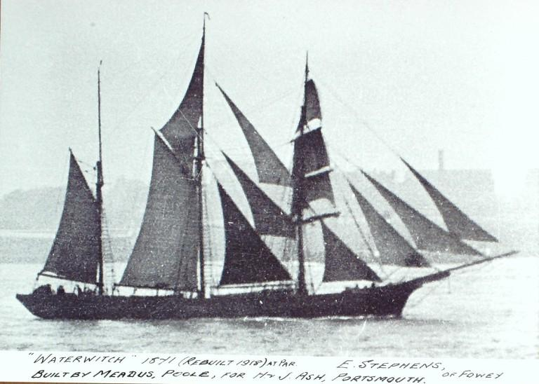 Photograph of Waterwitch, E Stephens of Fowey card