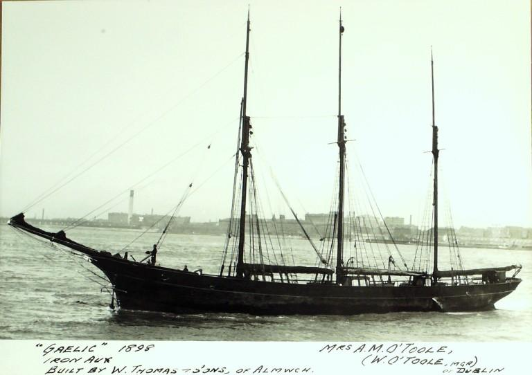 Photograph of Gaelic, Mrs A M O'toole card
