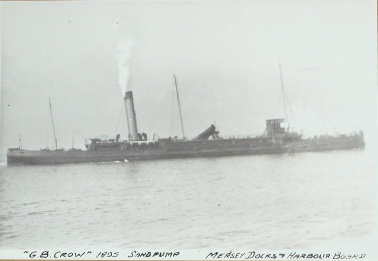 Photograph of G B Crow, MDHB (Mersey Docks and Harbour Board) card