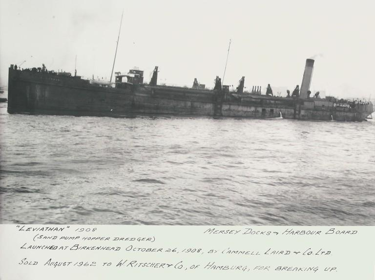 Photograph of Leviathan, MDHB (Mersey Docks and Harbour Board) card